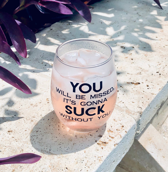 You Suck Coworkers Glass