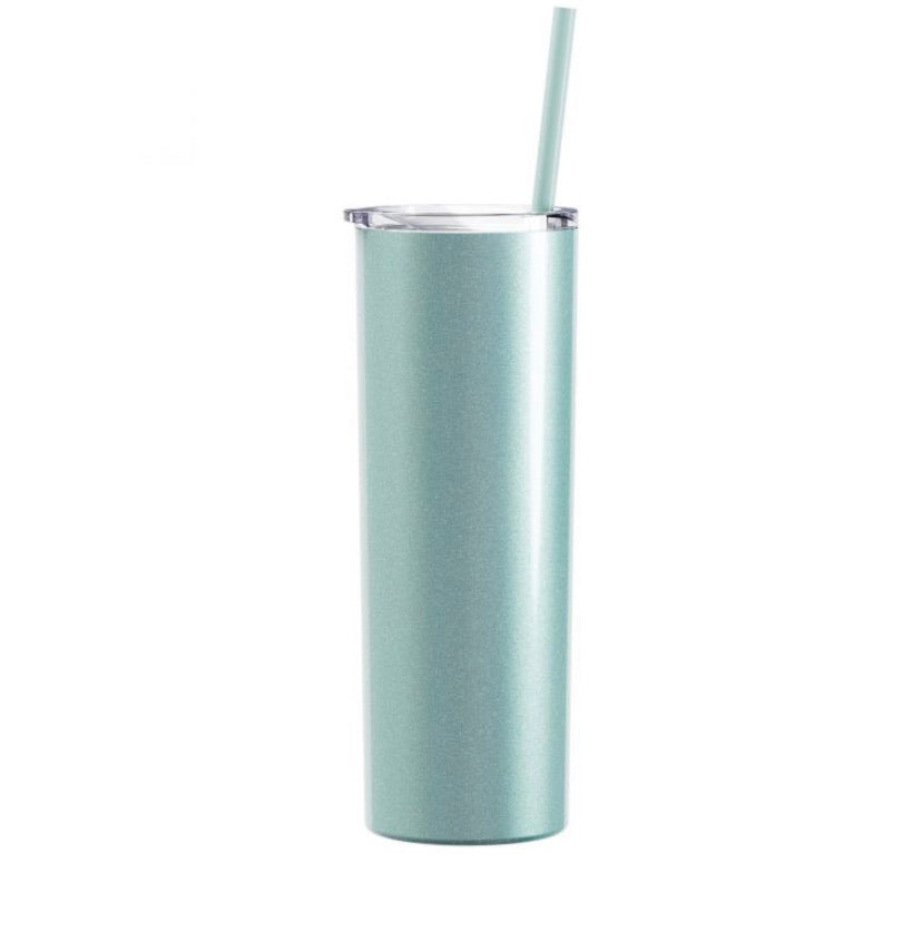 Glitter  Seascape Tall Drink Tumbler