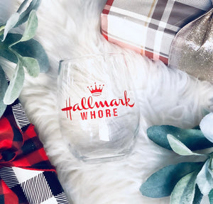 Christmas Movie wine glass