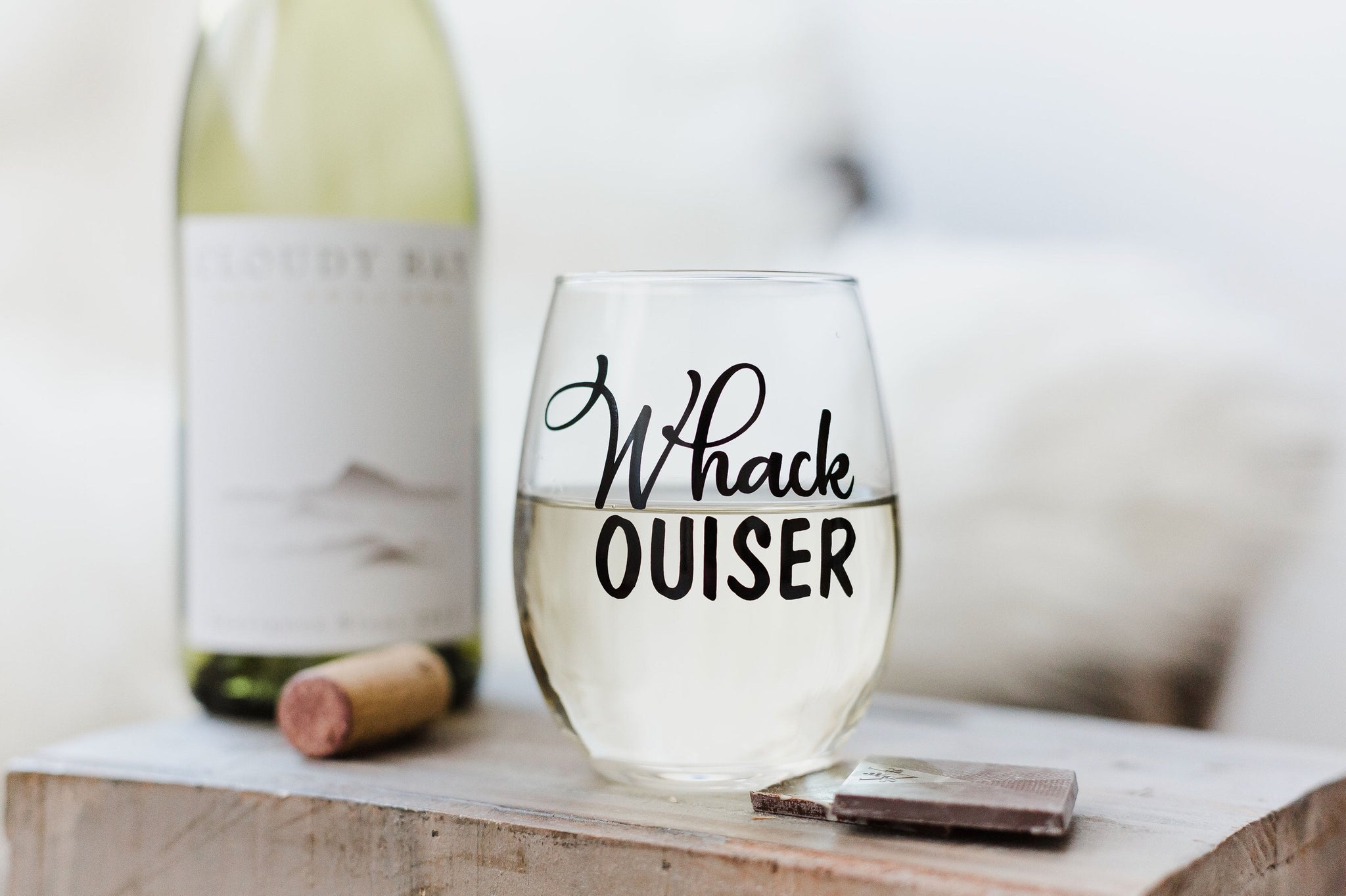 Whack Ouiser Stemless Wine Glass