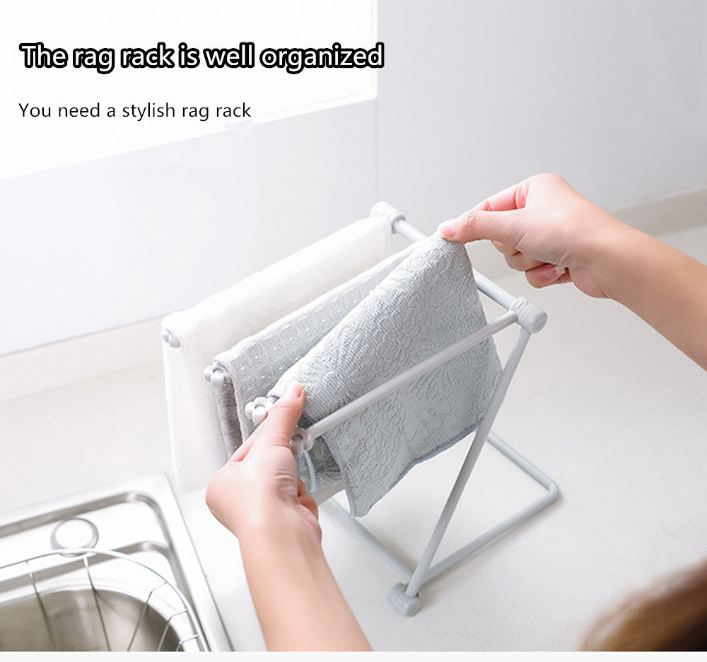 Foldable Rag Storage Rack