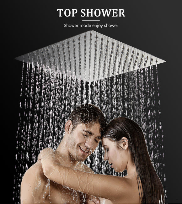 16 inch stainless steel rainfall shower head ultra-thin ceiling rain shower rain shower head