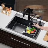 Single Bowel Kitchen Sink Above Counter and Udermount Vegetable Washing Basin