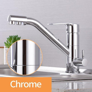 Kitchen Faucet Filter Water Swivel Drinking Faucet Dual Spout Purifier Kitchen Faucets Vessel Sink Mixer Tap hot and cold - Fbest