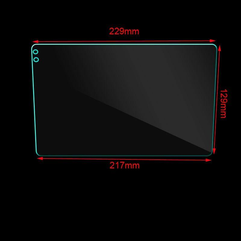 229*129*217mm 9inch Tempered Glass for Seicane Car GPS Navigation Tempered Glass Protective Film