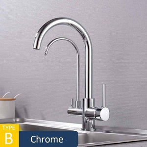 Pull-Out 360° Rotating Kitchen Faucets-3 Ways Tap Water Faucet