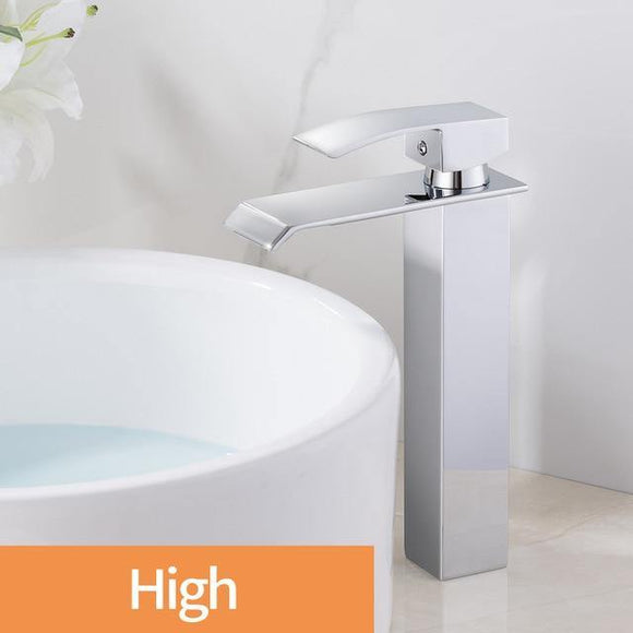 Brand New Polished Basin Sink Water Tap Single Lever Single Faucet Mixer Hole Deck Mounted Basin Bathroom Faucet WB-003 - Fbest