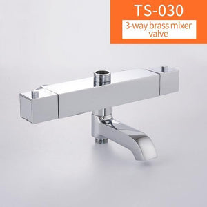 Bathroom Shower Mixer Brass Thermostatic Shower Faucet Bath&Shower Suite Accessories Water Mixer