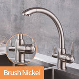 Kitchen 360 Rotation Filter Faucets Deck Mounted Mixer Tap with Water Purification Mixer Tap Crane For Kitchen Sink Tap - Fbest