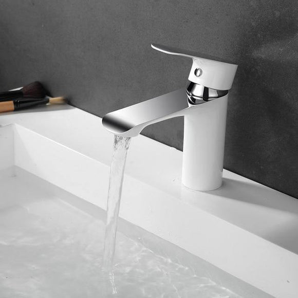 Bathroom Basin Faucets Single Handle Chrome Faucet Basin Taps Hot Cold Mixer Basin Tap Mixer Sink Tap - Fbest