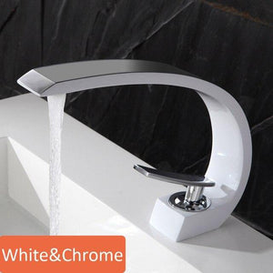 Bathroom Modern Basin Faucet Deck Mounted Single Holder Single Hole Tap