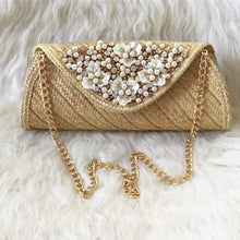 Load image into Gallery viewer, Panache Pearl and Rhinestone Embellished Clutch