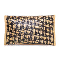 Aria Straw Clutch | Black  and Natural Diamond