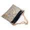 Aria Mini Straw Clutch | Blue and Natural Peas and Rice