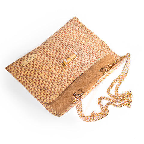 Aria Mini Straw Clutch | Natural Peas and Rice
