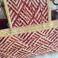Elsi Clear Straw Tote Bag | Red