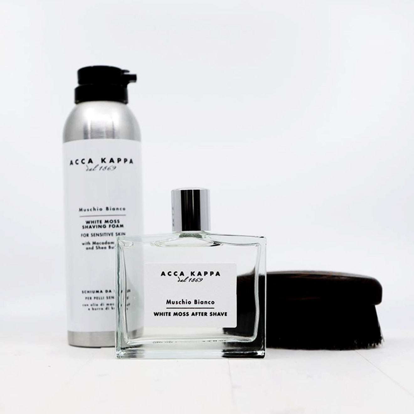 Acca Kappa White Moss Gift Set - After Shave + Shave Foam Value $113