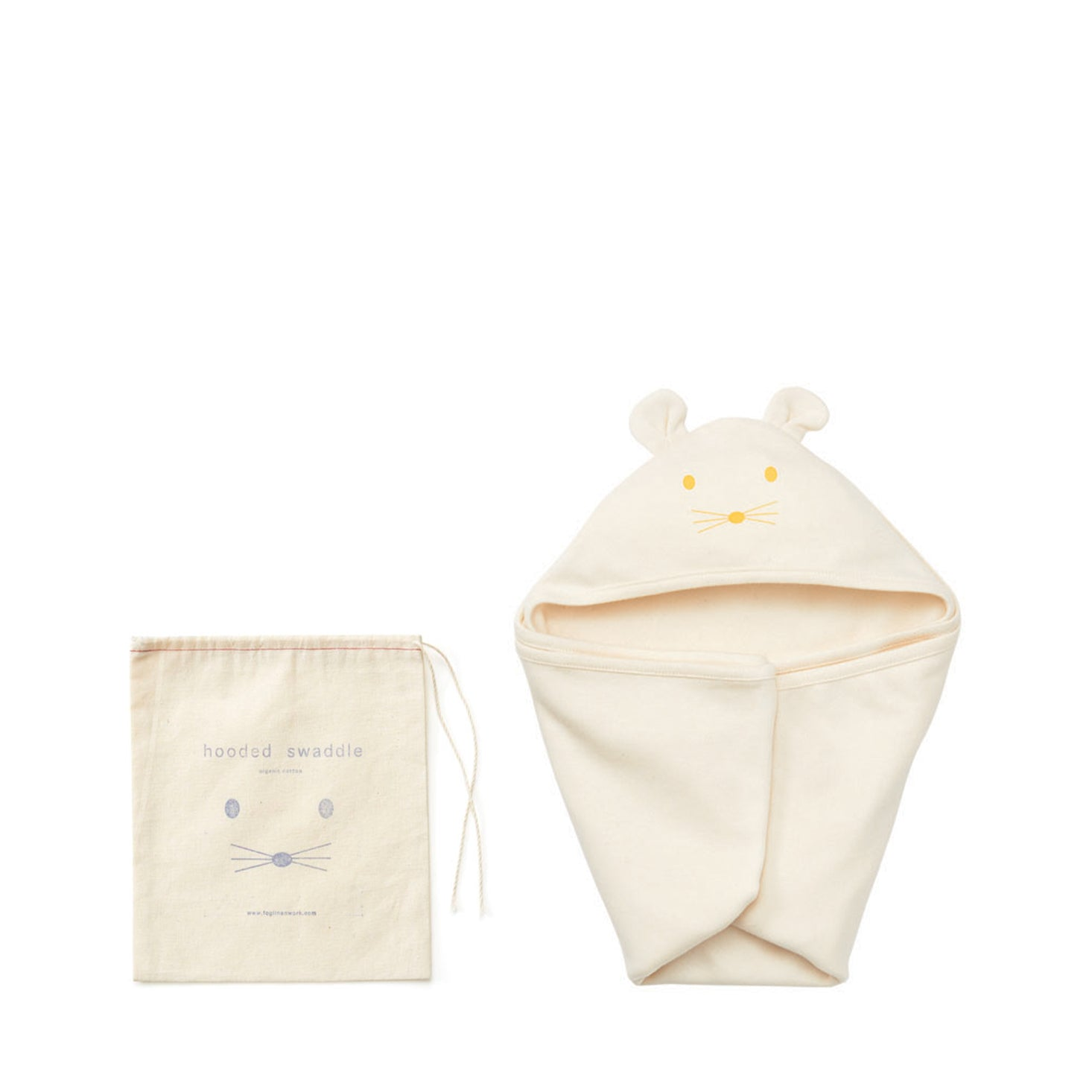 Fog Linen Work Hooded Swaddle