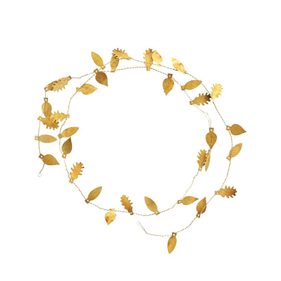 Fog Linen Work Brass Leaf Garland