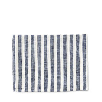 Fog Linen Work Tea Towel - Blue Stripe