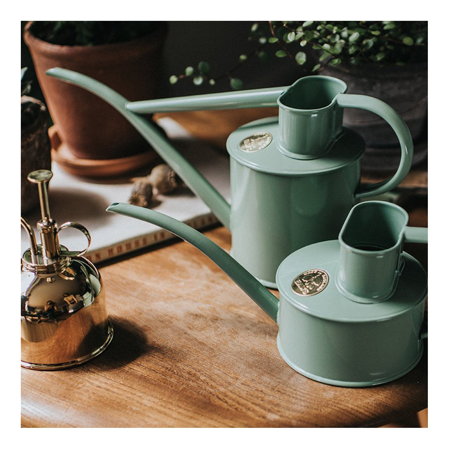 Haws Rowley Ripple Watering Can - Sage 1L