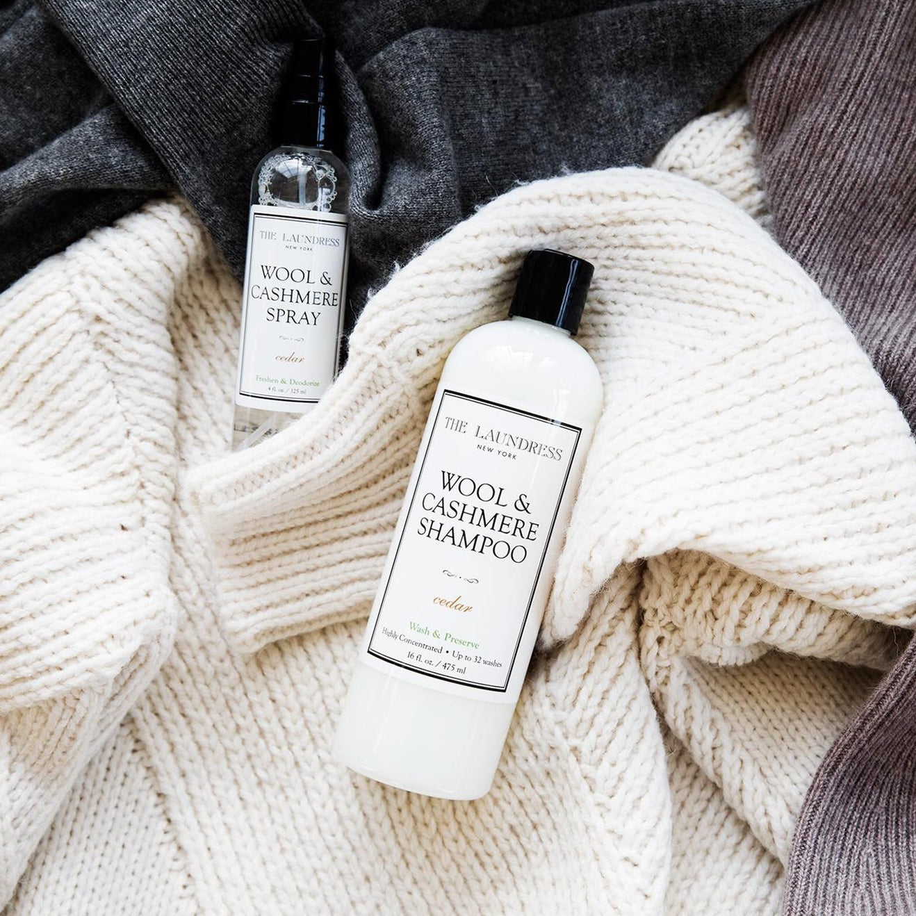 The Laundress Wool & Cashmere Shampoo 475ml - Cedar