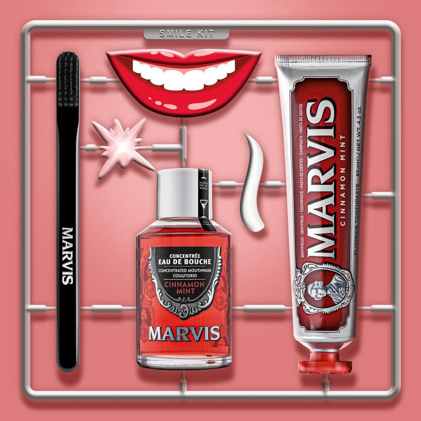 Marvis Cinnamon Mint Mouthwash