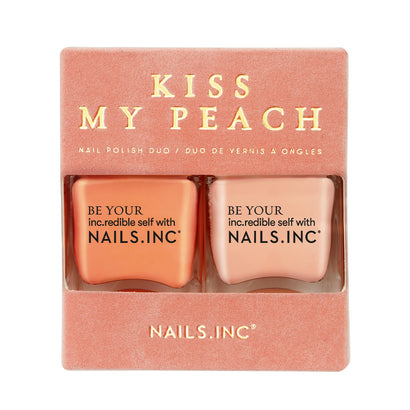 Nails.INC Kiss My Peach Peach Infused Duo