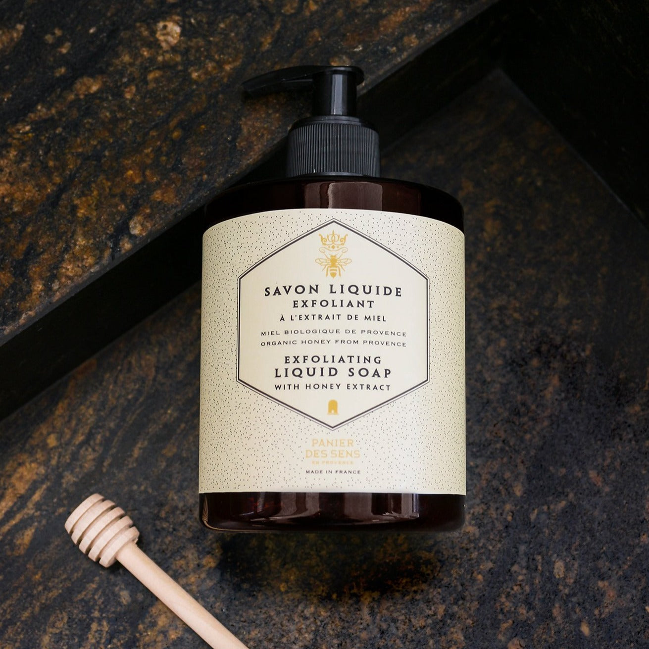 Panier des Sens Organic Honey Exfoliating Liquid Soap