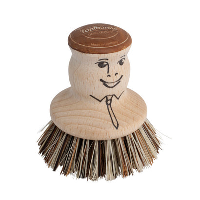 Redecker Pot Scrubbing Brush with Face
