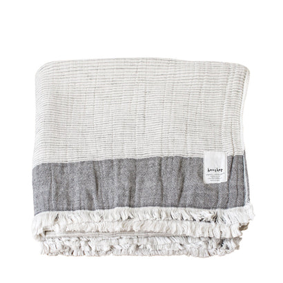 Ten i muhoh Heather Stripe Bath Towel -  Beige