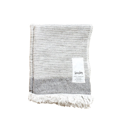 Ten i muhoh Heather Stripe Face Cloth -  Grey