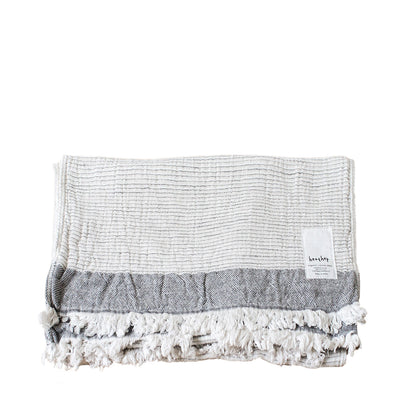Ten i muhoh Heather Stripe Hand Towel -  Beige