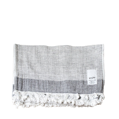 Ten i muhoh Heather Stripe Hand Towel -  Grey