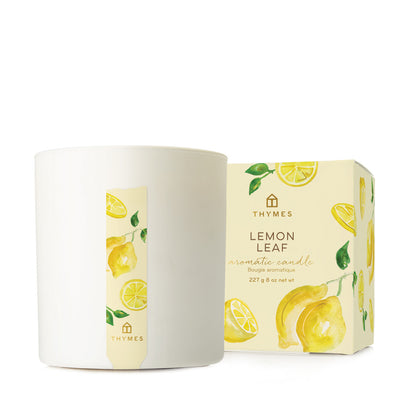 Thymes Lemon Leaf Boxed Candle