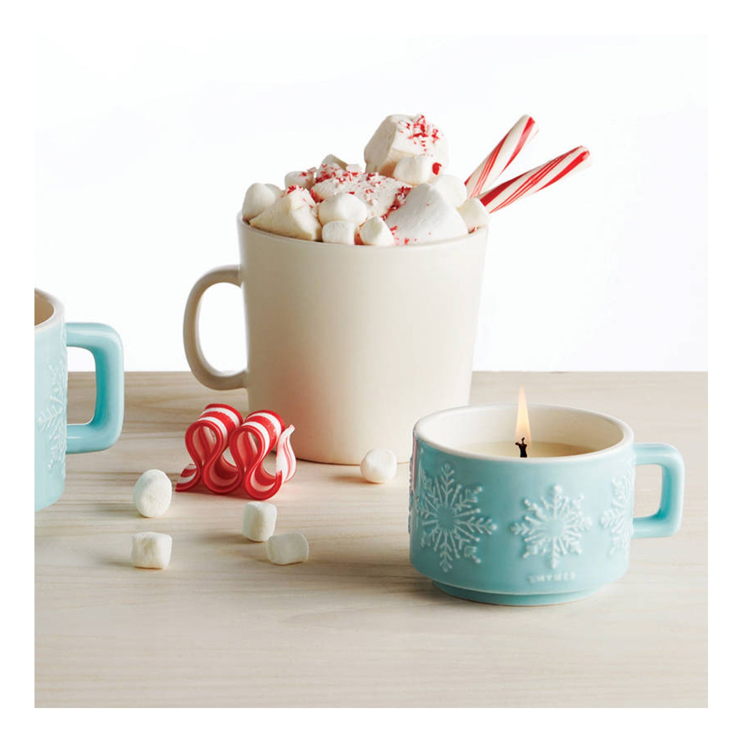 Thymes Peppermint Mug Candle
