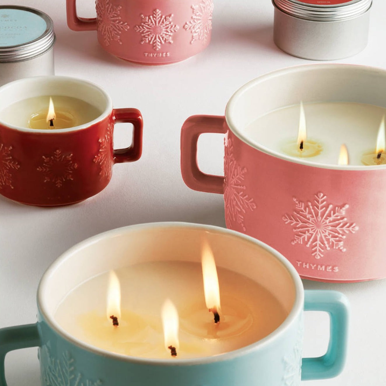 Thymes Raspberry 3-Wick Candle