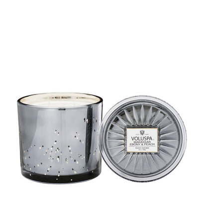VOLUSPA Makassar Ebony & Peach Grande Candle