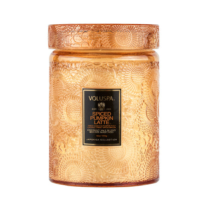 VOLUSPA Spiced Pumpkin 100hr Candle + Glass Lid