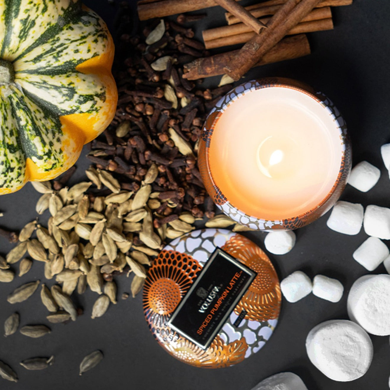 VOLUSPA Spiced Pumpkin Latte Decorative Candle