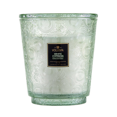 VOLUSPA White Cypress 250hr Hearth Candle