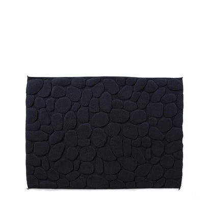 Yoshii Ishikoro 'Pebble' Bath Mat - Black