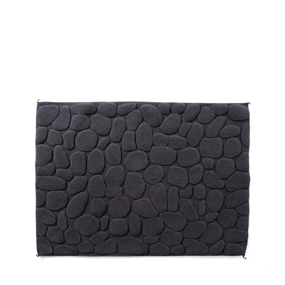 Yoshii Ishikoro 'Pebble' Bath Mat - Charcoal Grey