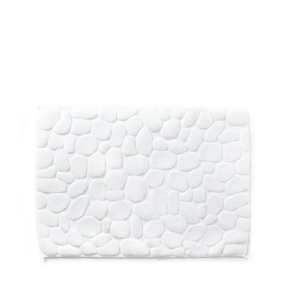 Yoshii Ishikoro 'Pebble' Bath Mat - White
