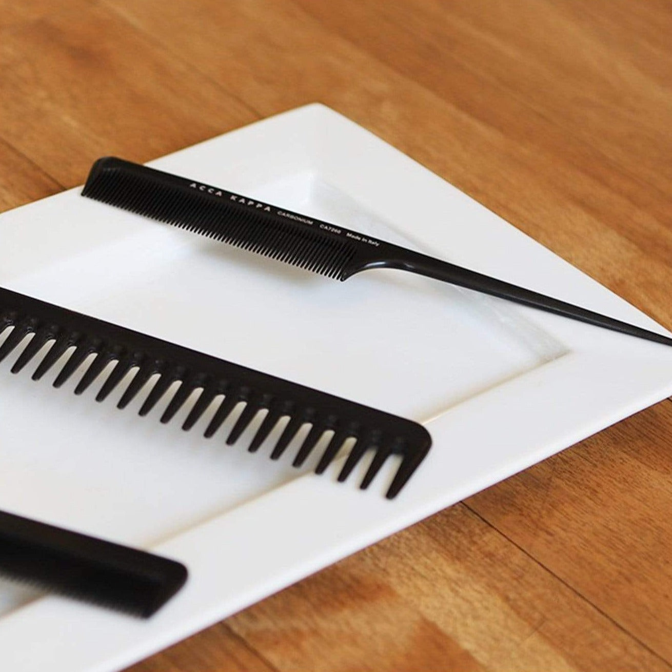 Acca Kappa Professional Fine Tooth Comb with Handle