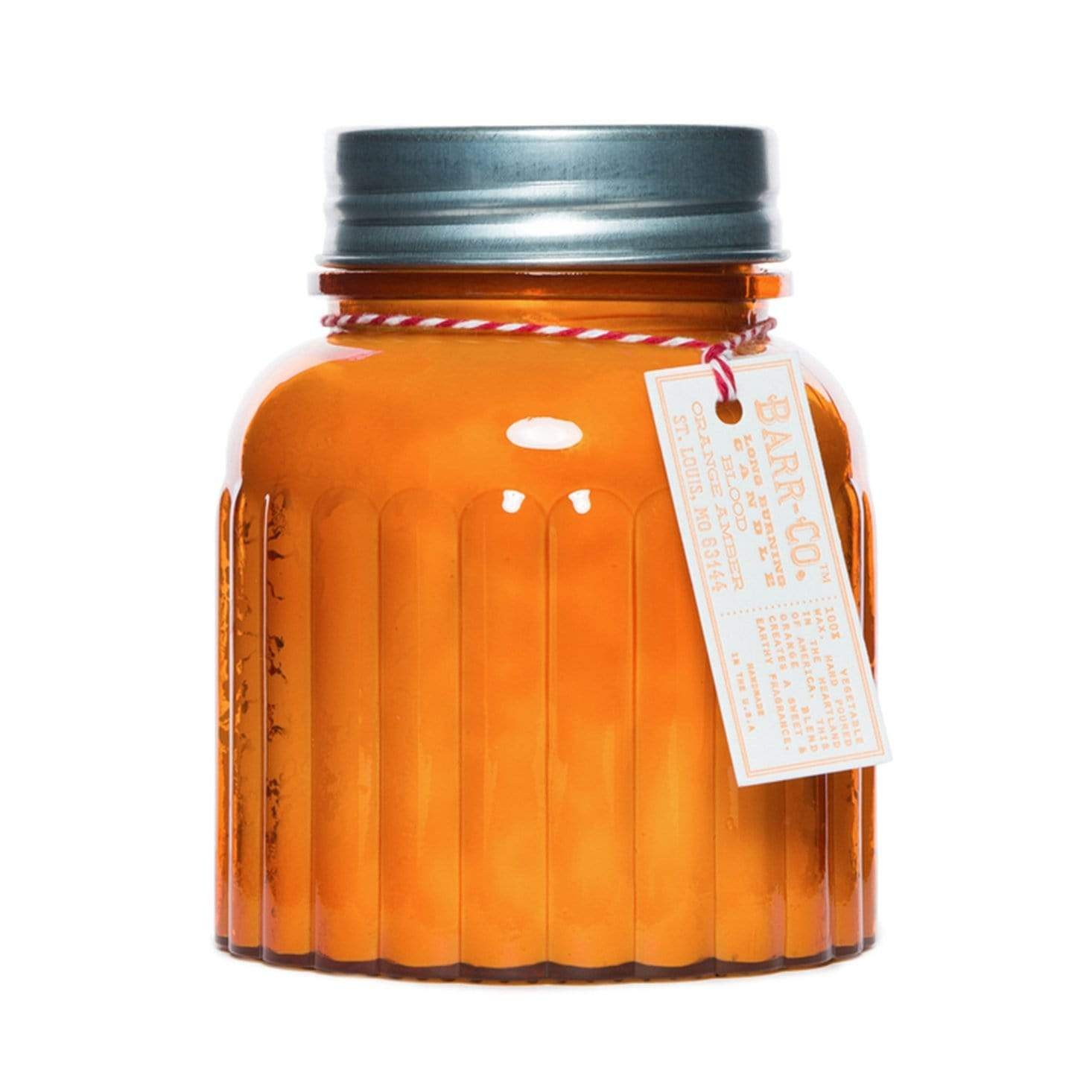 Barr-Co Blood Orange Amber 120hr Apothecary Candle