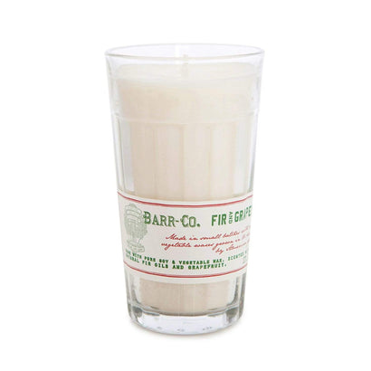 Barr-Co Fir & Grapefruit Milk Glass Candle