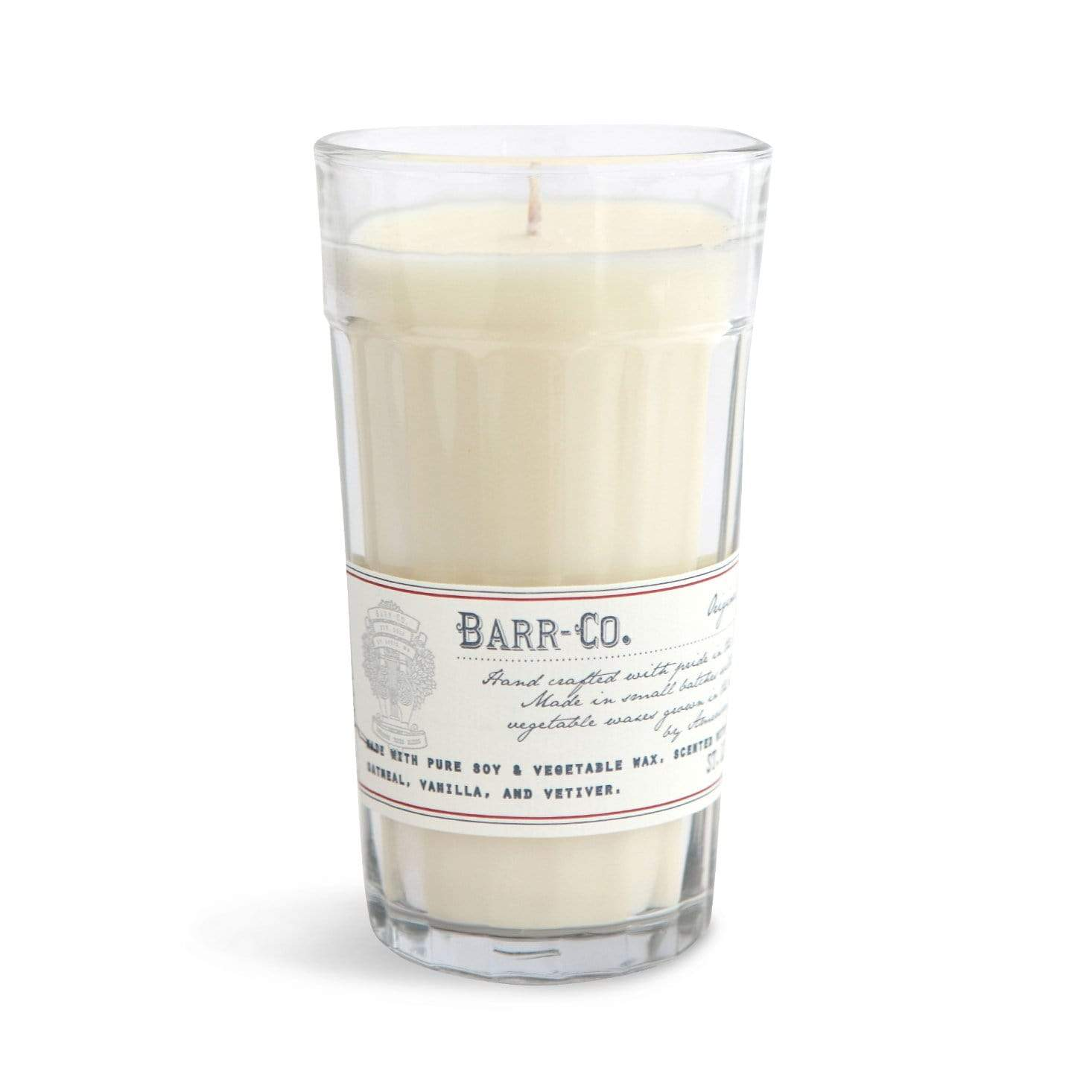 Barr-Co Original Milk Glass Candle