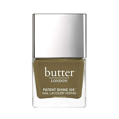 butter LONDON British Khaki Patent Shine 10X Nail Lacquer
