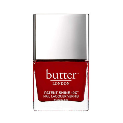 butter LONDON Her Majesty's Red Patent Shine 10X Nail Lacquer